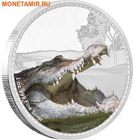 Ниуэ 2 доллара 2017 Морской крокодил серия Короли Континентов.Арт.000333653989/60 (фото)