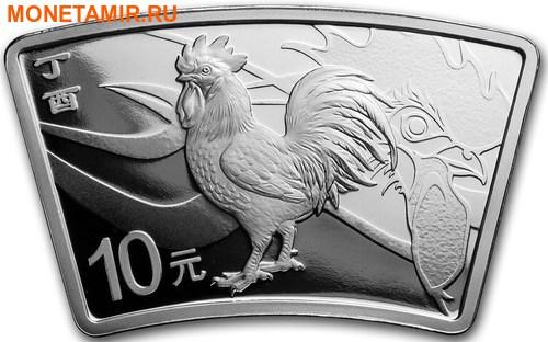 Китай 10 юаней 2017 Год Петуха – Лунный календарь (Веер).Арт.000462453947/60 (фото)