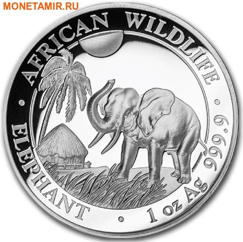 Сомали 100 шиллингов 2017 Слон из серии Дикая Африка (High Relief).Арт.000428753997/60