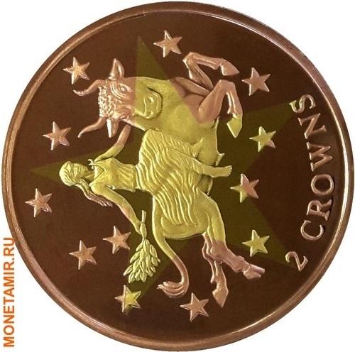 Гибралтар 2 кроны 2003 Европа (Биметалл).Арт.K2G2500D12299/60 (фото)