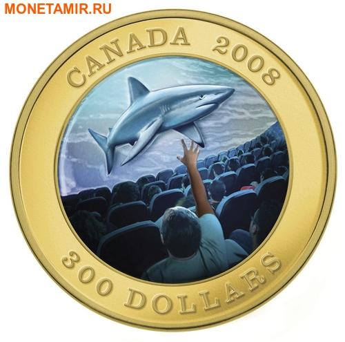 Канада 300 долларов 2008 Акула (Голограмма).Арт.K2,6G3380D/18234/60 (фото)