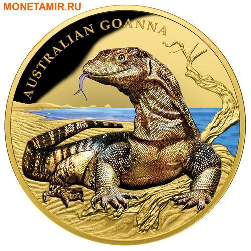 Ниуэ 100 долларов 2017 Ящерица Австралийский Варан Замечательные Рептилии (Niue $100 2017 Australian Goanna Remarkable Reptiles 1oz Gold Proof Coin).Арт.60 (фото)