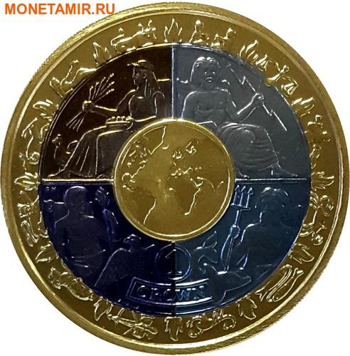 Остров Мэн 1 крона 2008 Международный год планеты Земля (Титан четыре цвета).Арт.K1,4G1820D/31760/65 (фото)