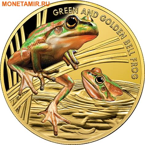 Ниуэ 100 долларов 2017 Лягушка Золотистая Литория (Green and Golden Bell Frog).Арт.60 (фото)