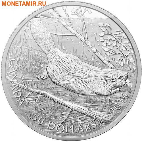 Канада 50 долларов 2014 Плывущий Бобр.Арт.003288845950/60 (фото)