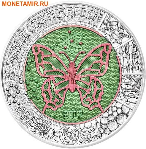 Австрия 25 евро 2017 Микрокосмос (Бабочка Пчела).Арт.60 (фото)