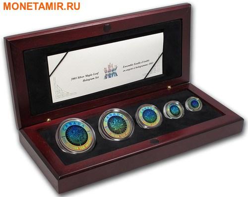 Канада 15 долларов 2003 Кленовые листья Голограмма (Набор из 5 монет).Арт.60 (фото)