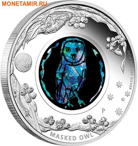 Австралия 1 доллар 2014 Сова Опал.Арт.000415350480/60
