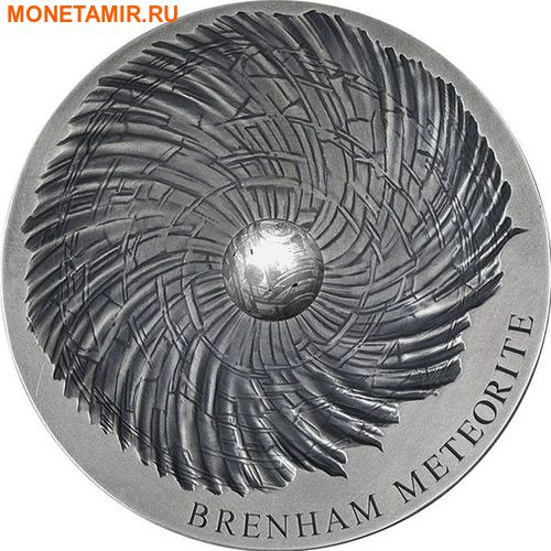 Чад 5000 франков 2016 Метеорит Бренхам - BRENHAM METEORITE.Арт.60 (фото)