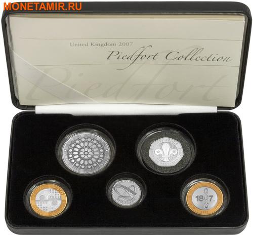 Великобритания 10,50 фунтов 2007 Набор пьедфорт (piedfort) 5 монет.Арт.000775353397/60 (фото)