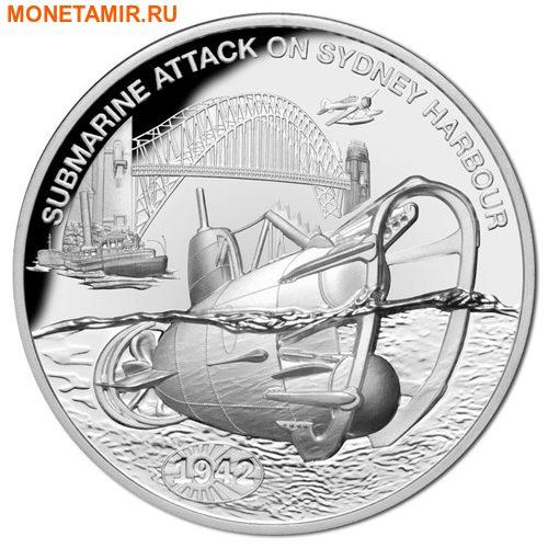 Ниуэ 1 доллар 2017 Подводная лодка – Нападение на Сидней-Харбор.Арт.60
