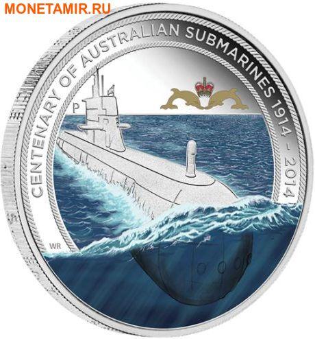 Австралия 1 доллар 2014 Подводная лодка – 100 лет создания подводного флота Австралии (Значок подводников).Арт.000261648172/60 (фото)