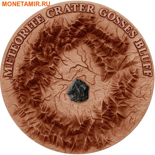 Ниуэ 1 доллар 2017 Метеоритный кратер Госсес Блафф (GOSSES BLUFF Meteorite Crater).Арт.60 (фото)