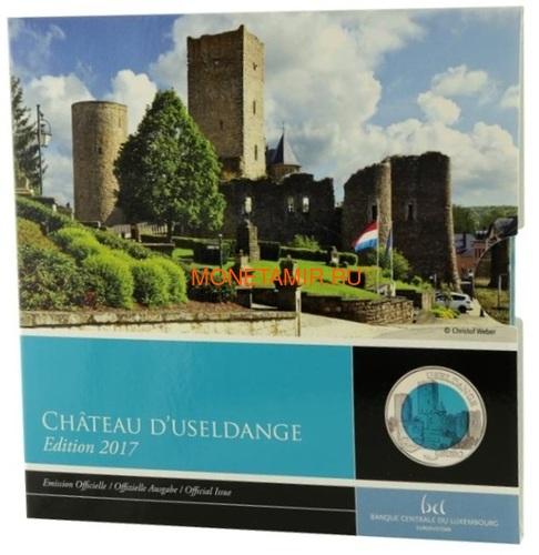 Люксембург 5 евро 2017 Замок Юзельданж Замки Люксембурга Ниобий (Luxemburg 5 Euro 2017 Castle Useldange Niob).Арт.000584554499/60 (фото)