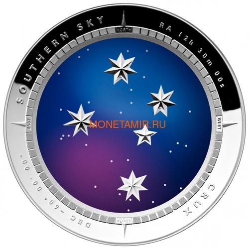 Австралия 5 долларов 2012 Созвездие Крест Южное Полушарие Выпуклая (Australia 5$ 2012 Southern Sky Crux Domed 1oz Silver Coin).Арт.60 (фото)