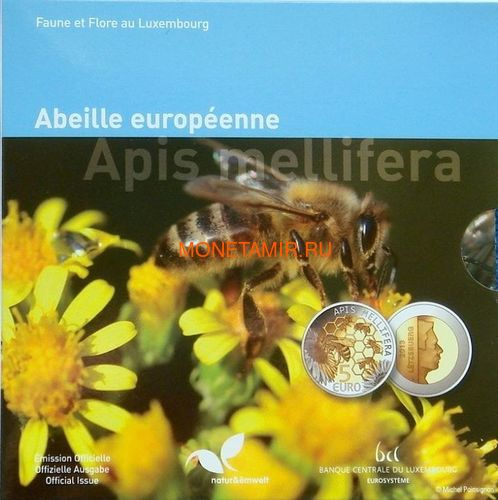Люксембург 5 евро 2013 Пчела Флора и фауна Люксембурга (Luxemburg 5 Euro 2013 Bee).Арт.000347748961/60 (фото)