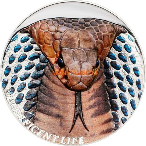 Острова Кука 5 долларов 2017 Кобра серия Великолепная жизнь (Cook Isl 5$ 2017 Magnificent Life Cobra Dome 1Oz.999Silv).Арт.60