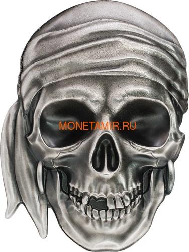 Палау 5 долларов 2017 Череп Пирата (Palau 5$ 2017 Pirate Skull).Арт.60 (фото)