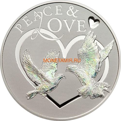 Токелау 5 долларов 2012 Мир и Любовь – Голуби (Peace and Love) Голограмма.Арт.60 (фото)