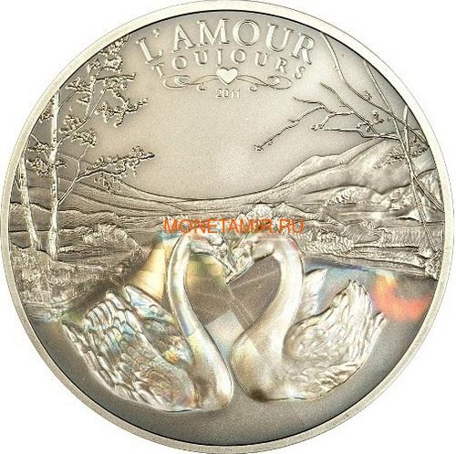 Камерун 1000 франков 2011 Любовь всегда – Лебеди (L`Amour toujours Antique) Голограмма.Арт.000227237050/60 (фото)