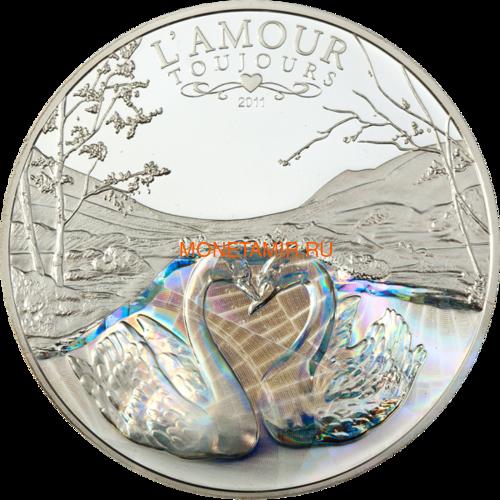 Камерун 1000 франков 2011 Любовь всегда – Лебеди (L`Amour toujours Proof) Голограмма.Арт.000235637035/60 (фото)