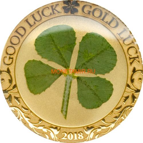 Палау 1 доллар 2018 Клевер На удачу (Palau 1$ 2018 Good Luck 4-leaf clover).Арт.60 (фото)
