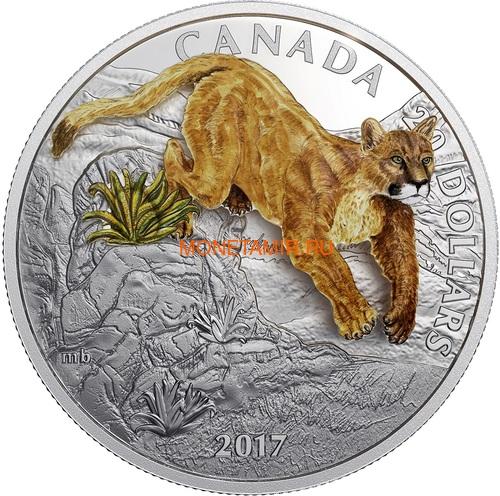 Канада 20 долларов 2017 Пума 3D (Canada 20$ 2017 Puma 3D).Арт.60 (фото)