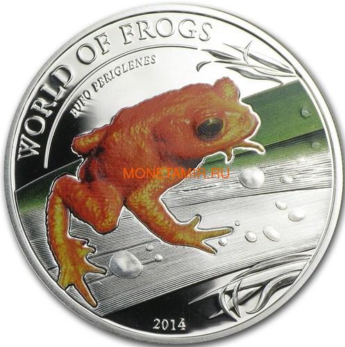 Палау 2 доллара 2014 Оранжевая жаба серия Мир Лягушек (Palau 2$ 2014 Bufo Periglenes World of Frogs).Арт.000226048907/60 (фото)