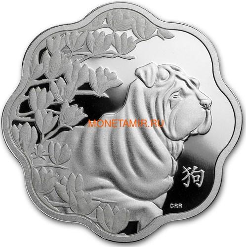 Канада 15 долларов 2018 Год Собаки – Лунный календарь серия Лотос (Canada 15$ 2018 Year of the Dog Lunar Lotus).Арт.60 (фото)