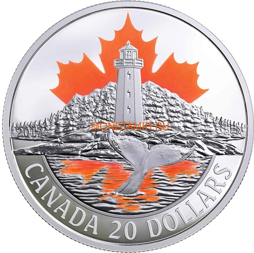 Канада 20 долларов 2017 Маяк Пегги Коув – Атлантическое побережье (Canada 20$ 2017 Atlantic coast lighthouse Peggy's Cove).Арт.000463154463/60 (фото)