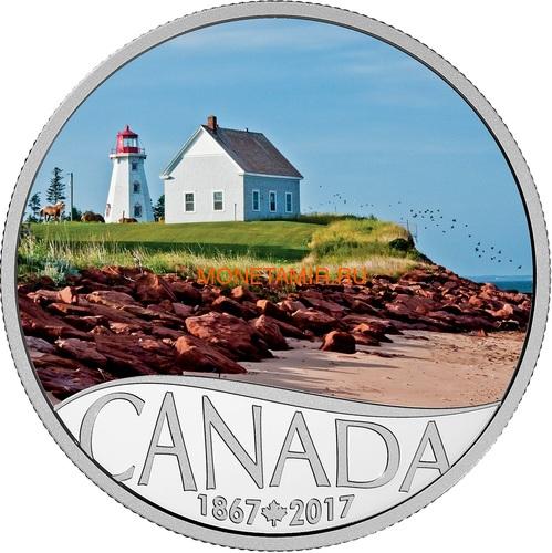 Канада 10 долларов 2017 Остров Панмюр Маяк - 150 лет Празднования Канады (Canada 10C$ 2017 Celebrating Canada's 150th Lighthouse Panmure Island).Арт.000227054452 /60