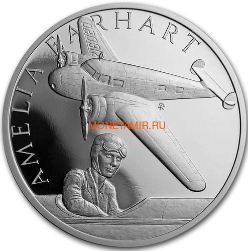 Ниуэ 1 доллар 2017 Амелия Эрхарт – Век полетов (Самолет Дирижабль Спутник) Niue 1 dollar 2017 Century of flight Amelia Earhart.Арт.60 (фото)
