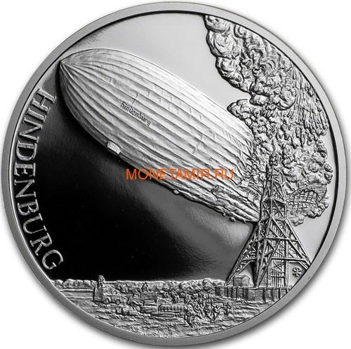 Ниуэ 1 доллар 2017 Дирижабль Гинденбург – Век полетов (Самолет Дирижабль Спутник) Niue 1 dollar 2017 Century of flight Hindenburg Airship.Арт.60 (фото)