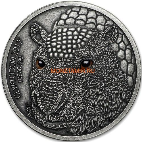Буркина Фасо 1000 франков 2017 Глиптодон - Эффект реальных глаз (Burkina Faso 1000 Francs CFA 2017 The Glyptodon High Relief).Арт.60 (фото)