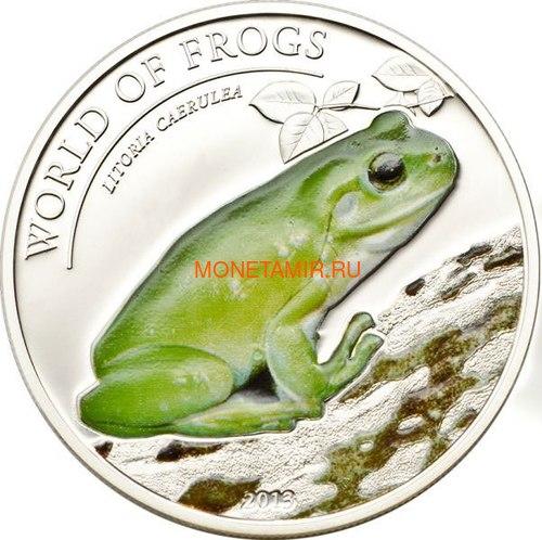Палау 2 доллара 2013 Коралловопалая Литория серия Мир Лягушек (Palau 2$ 2013 Litoria Caerulea World of Frogs).Арт.000202848905/60 (фото)