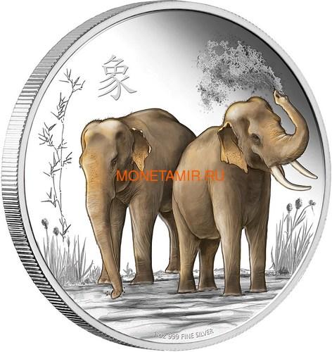 Ниуэ 2 доллара 2015 Слоны Фен-Шуй (Niue 2$ 2015 Elephant Feng Shui).Арт.000533549621/60 (фото)