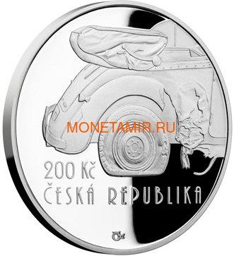 Чехия 200 крон 2017 Операция Антропоид (200 CZK 2017 Operation Anthropoid Proof).Арт.60 (фото)