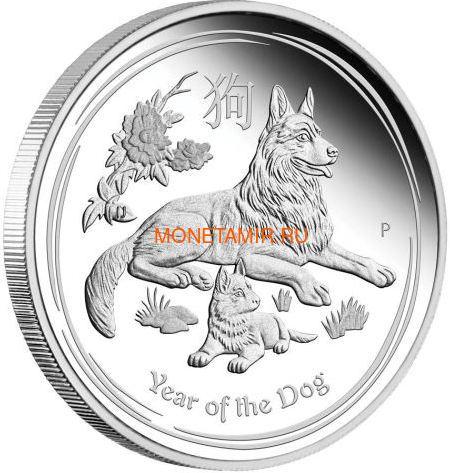 Австралия 1 доллар 2018 Год Собаки – Лунный календарь (Australia 1$ 2018 Year of the Dog Lunar calendar Proof).Арт.60 (фото)