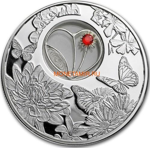 Ниуэ 2 доллара 2017 Филигранное Сердце Бабочка (Niue 2$ 2017 Filigree Heart Butterfly).Арт.60