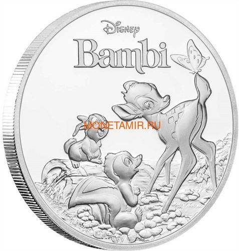 Ниуэ 2 доллара 2017 Олененок Бэмби с друзьями Заяц Скунс Бабочка (Niue $ 2 2017 Deer Bambi).Арт.60 (фото)
