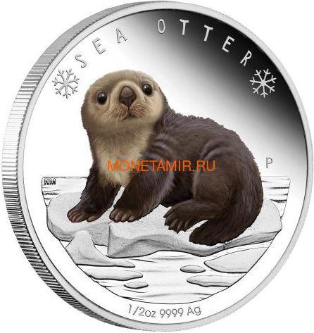 Тувалу 50 центов 2017 Детеныш Полярной Морской Выдры (Tuvalu 0,5$ 2017 Sea Otter Baby Polar Babies).Арт.60 (фото)