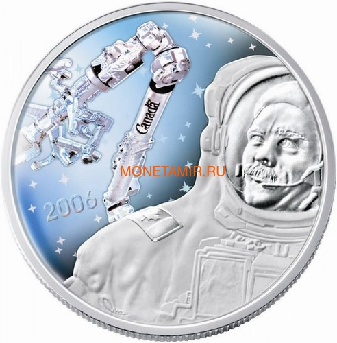 Канада 30 долларов 2006 Канадарм Крис Хэдфилд Космос Голограмма (Canada 30$ 2006 Canadarm Space Hologram).Арт.000462254326/60 (фото)
