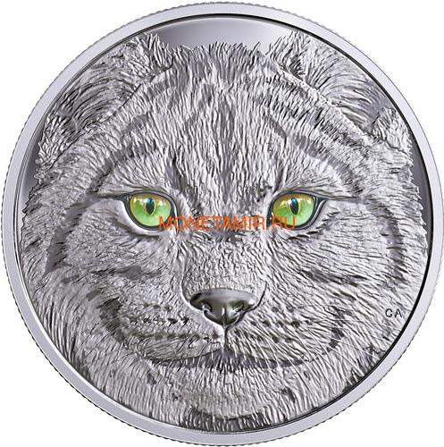 Канада 15 долларов 2017 Рысь (Canada 15$ 2017 Glow-In-The-Dark Coin Lynx).Арт.60 (фото)
