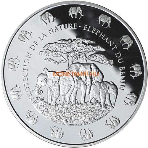 Бенин 1000 франков 2017 Слон с детенышем серия Охрана природы (Benin 1000 Francs CFA 2017 Elephant).Арт.60 (фото)