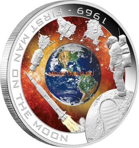 Острова Кука 1 доллар 2009 Первый человек на Луне (Cook Islands 1$ 2009 First man on the Moon).Арт.60 (фото)
