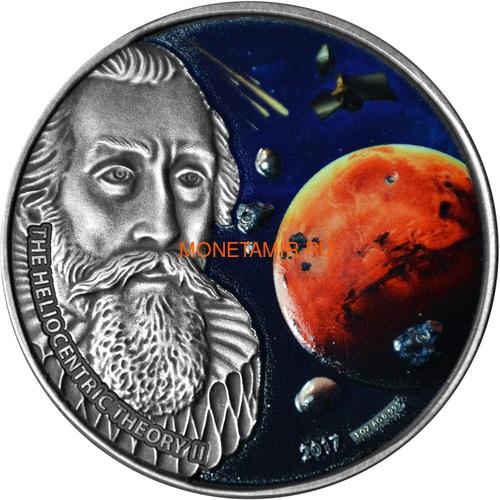 Буркина Фасо 1000 франков 2017 Иоганн Кеплер – метеориты NWA 7397 NWA 6234 Tindouf 002 (Burkina Faso 1000FCFA 2017 Johannes Kepler 3 Marsian Meteorites NWA7397 NWA6234 Tindouf002).Арт.60