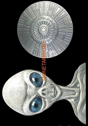 Буркина Фасо 2x1000 франков 2017 Розуэлльский инцидент - Инопланетянин НЛО (Burkina Faso 2x1000FCFA 2017 Roswell UFO Incident 2 coin Set).Арт.000784954896/60