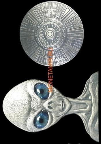 Буркина Фасо 2x1000 франков 2017 Розуэлльский инцидент - Инопланетянин НЛО (Burkina Faso 2x1000FCFA 2017 Roswell UFO Incident 2 coin Set).Арт.000784954896/60 (фото)
