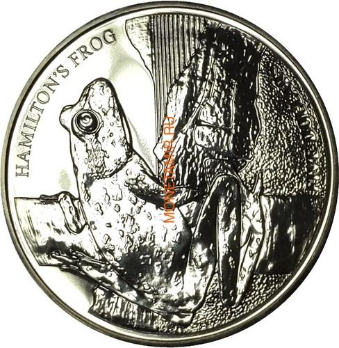 Новая Зеландия 5 долларов 2008 Лягушка Гамельтона (New Zealand 5$ 2008 Hamilton's Frog).Арт.60 (фото)