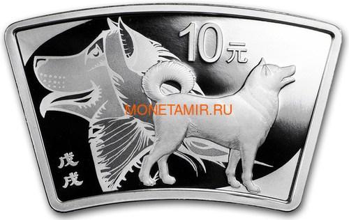 Китай 10 юаней 2018 Год Собаки – Лунный календарь (Веер) China 5Y 2018 Year of the Dog Lunar calendar.Арт.60